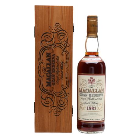Macallan Gran Reserva Scotch 1981